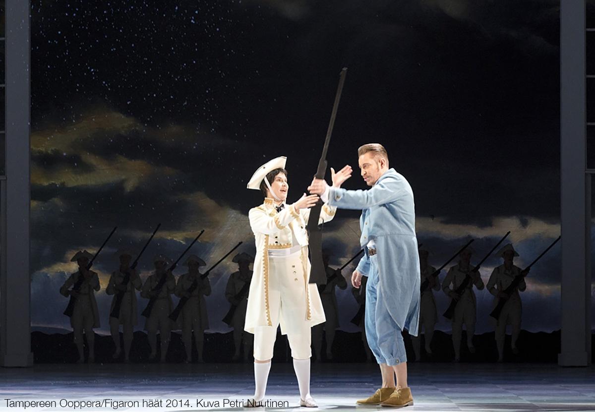 Figaron häät -ooppera Tampere-talossa 2014, ohjaus Tuomas Park